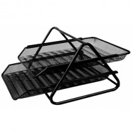 2-Tier Mesh Wire Metal Tray