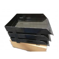 3-Tier Document Tray with Plastic Riser