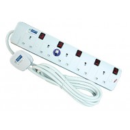 5-Way Portable Socket Outlet w Surge (3m)