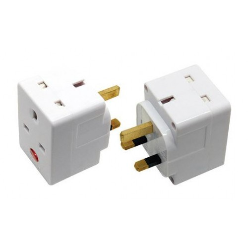 3 Way 3 Pin Adaptor with Neon 703N