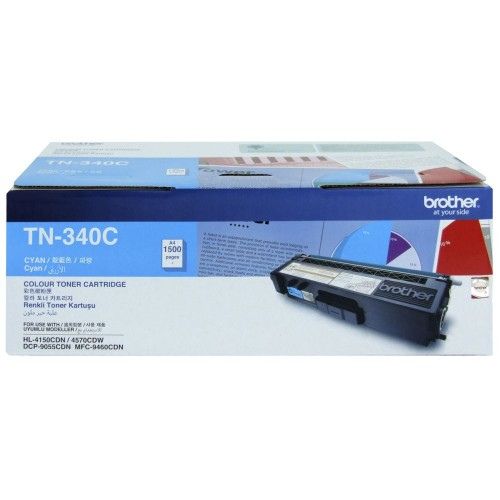 Brother TN-340C Cyan Original Printer Toner Cartridge