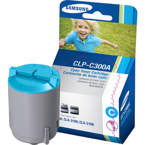 Samsung CLP-C300A Cyan Toner Cartridge
