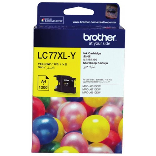 Brother LC-77XLY Ink Cartridge Yellow