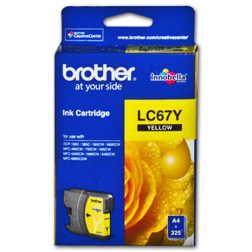Brother Ink Cartridge LC67Y Yellow