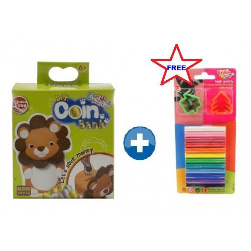 Kiddy Clay Light Weight Air Dry Clay DIY Coin Bank