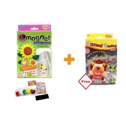 Kiddy Plasticine Clay 3D Magnet + FOC Animal Racing Set