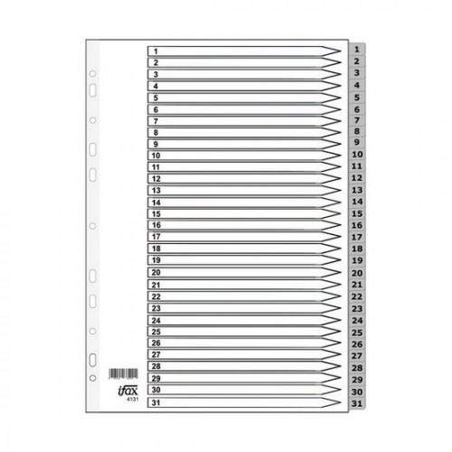 PP Plastic Grey Divider 1-31