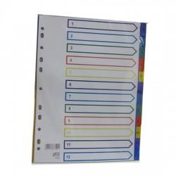 PP Plastic Colour Divider Nos.1-12