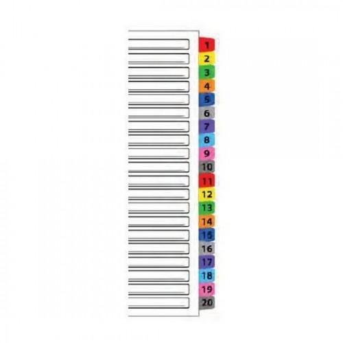 Mylar Colour Index Divider 1-20 (iFax)