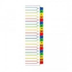 Mylar Colour Index Divider A-Z (iFax)