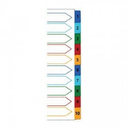 PP Colour Index Divider 1-10 (Tab with No)