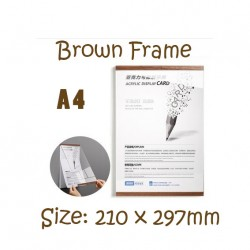 Magnetic Display Acrylic with Silver or Brown Frame A4