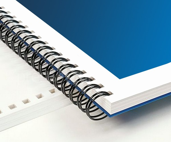 Wire binded documents for a durable and professional presentation