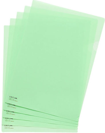 Lihit Lab F-78-13 PASTEL GREEN L-Clear Holder A4.S