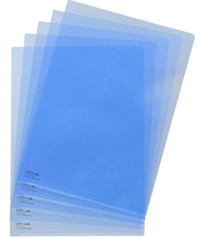 Lihit Lab F-78-20 CRYSTAL BLUE L-Clear Holder A4.S