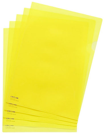 Lihit Lab F-78-5 YELLOW L-Clear Holder A4.S