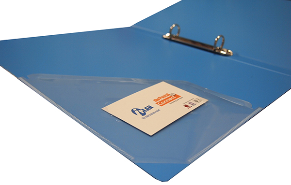 HK OB430 0-Ring File A4 with Side-Pocket and Business Card Slot